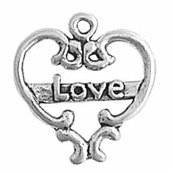 Filigree Heart w/Love
