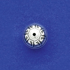 12mm Aztec Round Bead