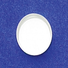 10X12mm Oval Bezel Cup Plain