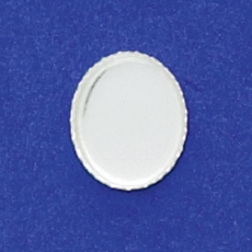 10X12mm Oval Bezel Cup Serrated