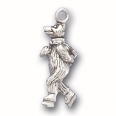 Bear on Ice Skates Charm