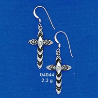Braided Cross Earing