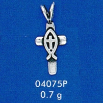 Christian Fish Cross Pendant