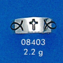 Christian Fish Cross Ring