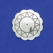 Stamped Scalloped Concho Disk 3/4""