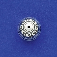 14mm Aztec Round Bead