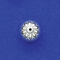 12mm Flower Round Bead