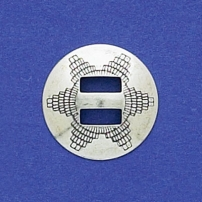 Stamped Round Slide-On Concho Disk 3/4""