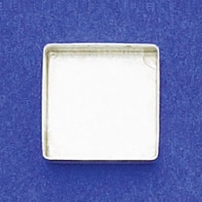 14mm Square Bezel Cup Plain