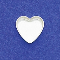 10mm Heart Bezel Cup Plain