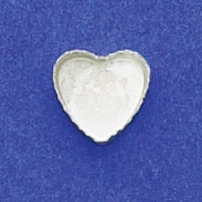 10mm Heart Bezel Cup Serrated