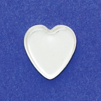 12mm Heart Bezel Cup Plain