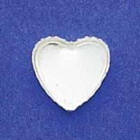 12mm Heart Bezel Cup Serrated