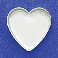 16mm Heart Bezel Cup Plain