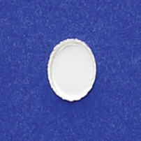 6X8mm Oval Bezel Cup Serrated