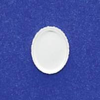 7X9mm Oval Bezel Cup Serrated