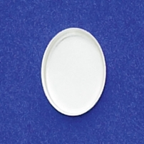 10X14mm Oval Bezel Cup Plain