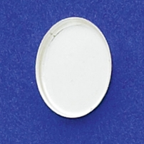 12X16mm Oval Bezel Cup Plain