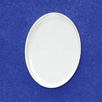 13X18mm Oval Bezel Cup Plain