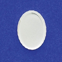 13X18mm Oval Bezel Cup Serrated