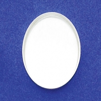 18X25mm Oval Bezel Cup Plain