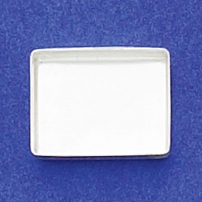 12X16mm Rectangle Bezel Cup Plain