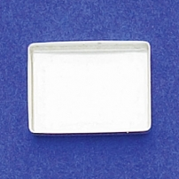 13X18mm Rectangle Bezel Cup Plain