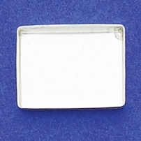 15X20mm Rectangle Bezel Cup Plain