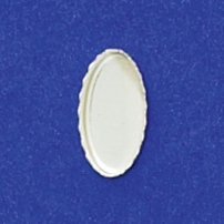 6X12mm Oval Bezel Cup Serrated