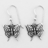 Butterfly Earrings on French Wire