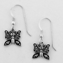 Butterfly Earring on French Wire