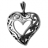 Heart, Scroll Pendant