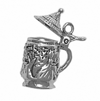 Beer Stein Charm movable