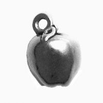 Apple, Solid Silver Charm