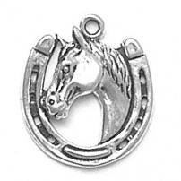 Horseshoe w/Horse Head