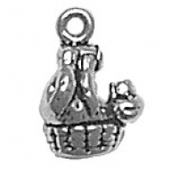 Bear in Basket Charm
