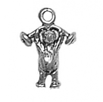 Bear Lifting Weights Charm