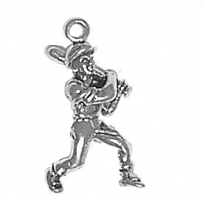 Baseball Player Charm