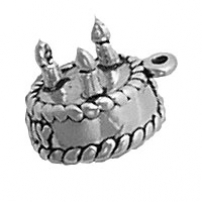Birthday Cake Charm 3 Candles