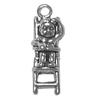 Baby in High Chair Charm