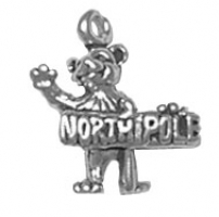 Bear with North Pole Sign Charm