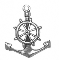 Anchor with Wheel Charm