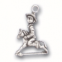 Boy on Toy Horse Charm