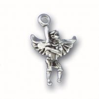 Baseball Angel Charm