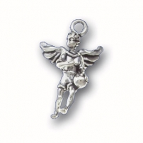 Basketball Angel Charm