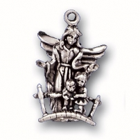Angel with Two Children Charm