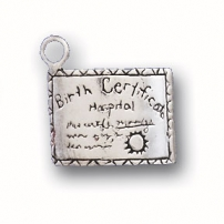 Birth Certificate Charm