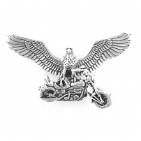 Eagle w/ motorcycle