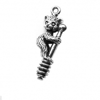 Bear with Honey Dipper Charm