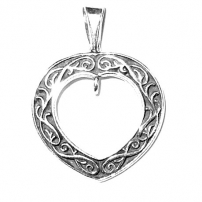 Filigree Heart with Open Loop
